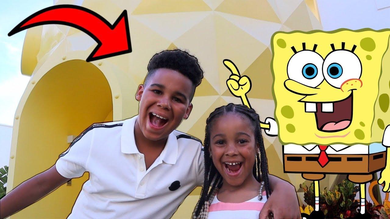 FamousTubeKIDS Go To SpongeBob Squarepants House!