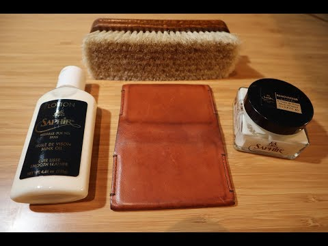 How to Care for, Clean, and Condition your luxury leather wallet using Saphir leather lotion