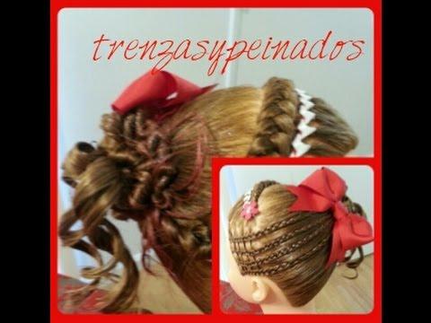 Peinado de Navidad para Niña , Christmas Hairstyle for Girls