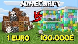 CASA DE 1 EURO VS CASA DE 100.000 EURO - MINECRAFT