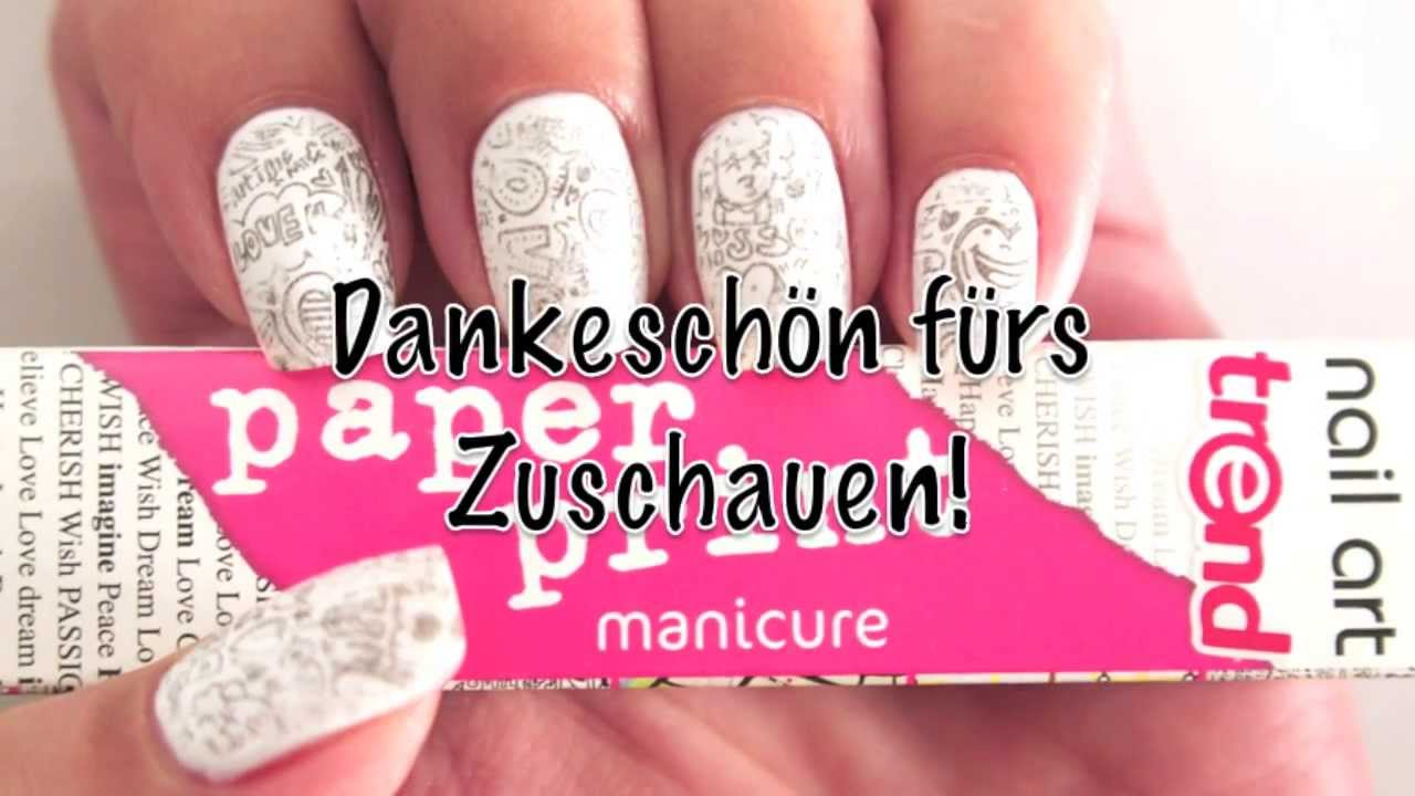 Essence paper print manicure nail art tutorial deutsche version essence paper print manicure nail art tutorial deutsche version youtube prinsesfo Images