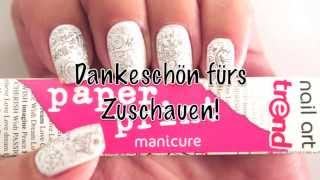 Essence Paper Print Manicure Nail Art Tutorial (Deutsche Version) Thumbnail