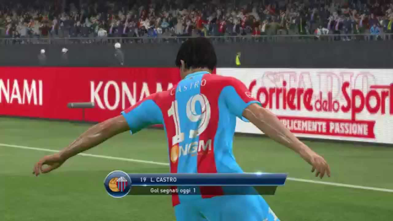 pes 2015 castro goal calcio catania pro vercelli serie b youtube. Black Bedroom Furniture Sets. Home Design Ideas