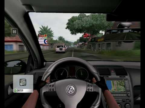 Test Drive Unlimited - U-turn on Volkswagen Golf