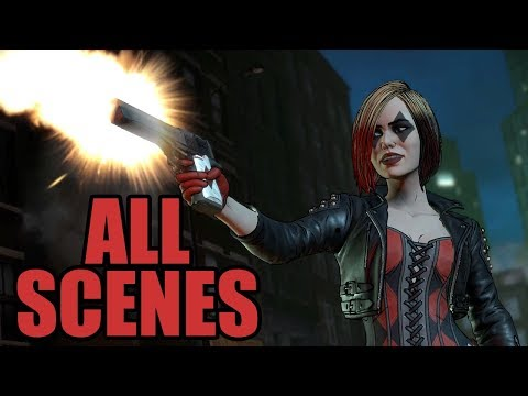 Telltale BATMAN The Enemy Within - All Harley Quinn Scenes