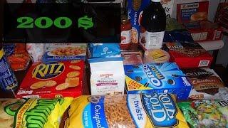 Что можно купить на 200$ в Америке. Закупка продуктов.(Привет. Мы пошли в магазин TARGET и на 200$ купили продукты. Хотим показать вам, что мы купили. Расскажем про цены...., 2015-12-09T20:25:44.000Z)