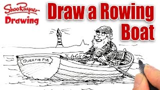 How to draw a Rowing Boat easily - Spoken Tutoria