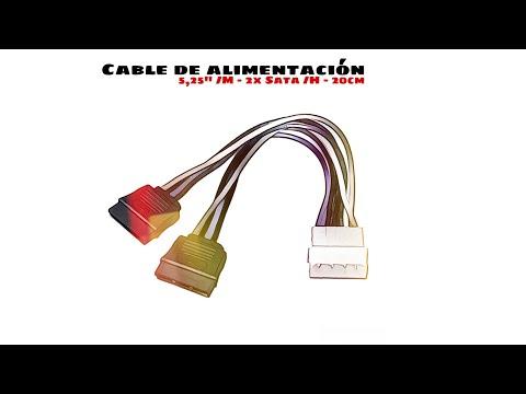 Video de Cable de alimentacion interna molex 5.25 a 2x sata 0.15 M Negro