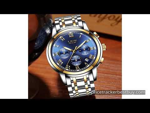 Watches Mens Luxury Steel Band Quartz Analog Wrist ...