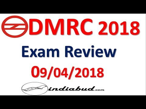 DMRC EXAM REVIEW 2018 ll 09/04/2018 PAPER REVIEW All  Shift