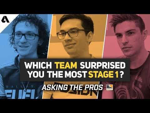 Which Team Surprised You The Most Stage 1? | Asking The Pros - Overwatch League Season 2 thumbnail