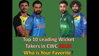 Top 10 Leading Wicket Taker in World Cup 2019 // Most Wickets in ICC World Cup 2019