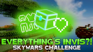 THE INVISIBLE HEARTS, ARMOR, AND CHEST CHALLENGE! ( Hypixel Skywars )