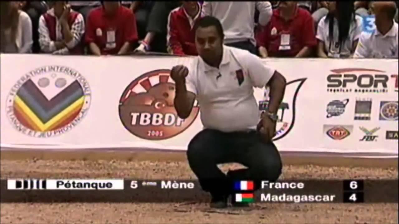 Finale championnat du monde petanque 2010 madagascar vs for Championnat du monde de boules carrees