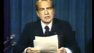 Nixon before resignation and full speech, August 8, 1974