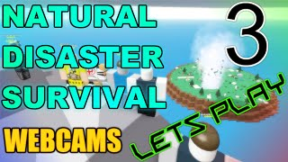 Natural Disaster Survival: ROBLOX - Commentary w/ Friends HD - Webcams! Ep3
