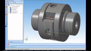 Компас-3D Урок 22. Вставка ком-ов и наложение сопр-ий.avi