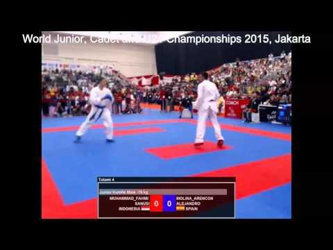 Muhammad Fahmi Sanusi Vs Molina Arencon Alejandro _  Karate World Championships 2015