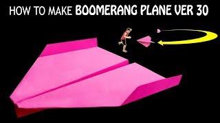 Cách gấp máy bay boomerang ver 30 | how to make paper boomerang plane | boomerang plane king