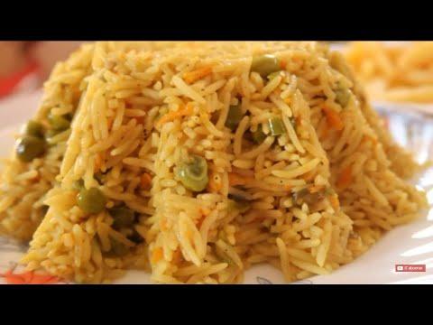 RIZ Aux Légumes En 15mn أرز بالخضار في ربع ساعة