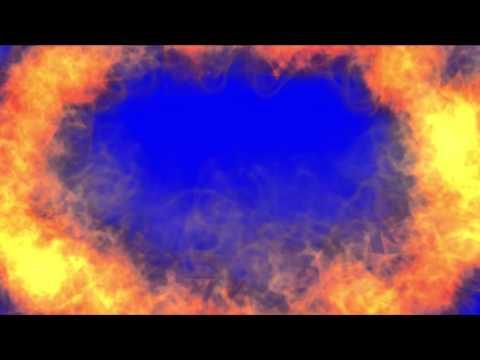 Overlay Fire - Chroma Key Blue