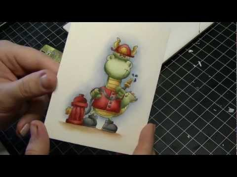 Colouring/Coloring A Stamped Image (Distress Markers & Twinkling H2O's)