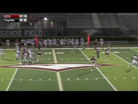 ECS Varsity Football vs Fayette Academy