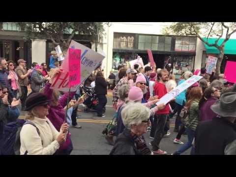 Santa Barbara Women's March on State Street