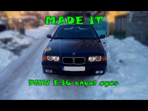 bmw e36 ccfl angel eyes on stock headlights youtube. Black Bedroom Furniture Sets. Home Design Ideas