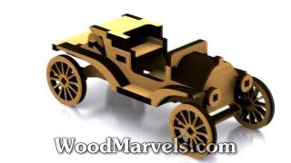 1911 Ford Model T Torpedo Runabout: 3d Assembly Animation (720hd)
