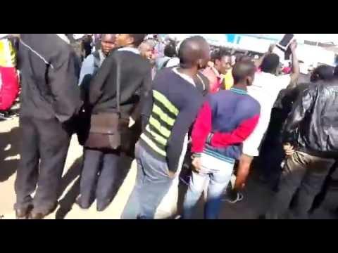 Fireworks Shops burns in Harare