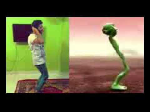 Zohaib Chandio dancing Dame tu Cosita with Crazy Frog 144p