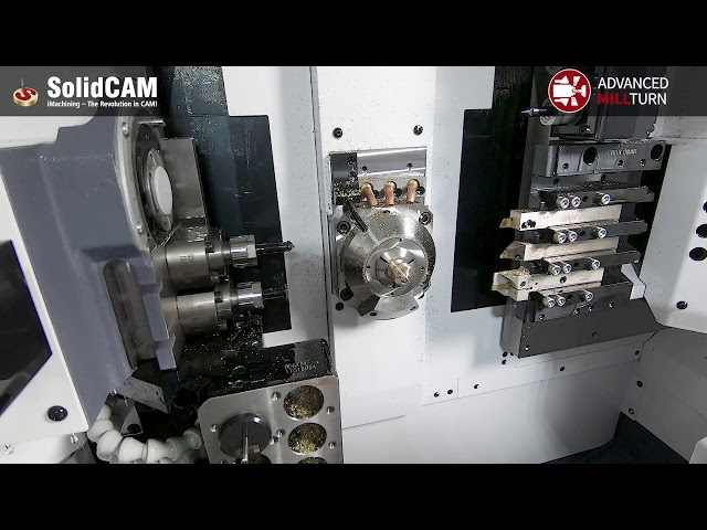 SolidCAM Advanced Mill-Turn on a Citizen D25 CNC
