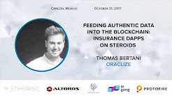 D1Conf | Feeding Authentic Data into Blockchain: Insurance Dapps on Steroids, Thomas Bertani