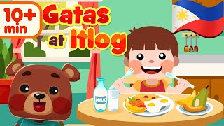 Gatas at Itlog in Filipino | Nursery Rhyme Awiting Pambata Compilation