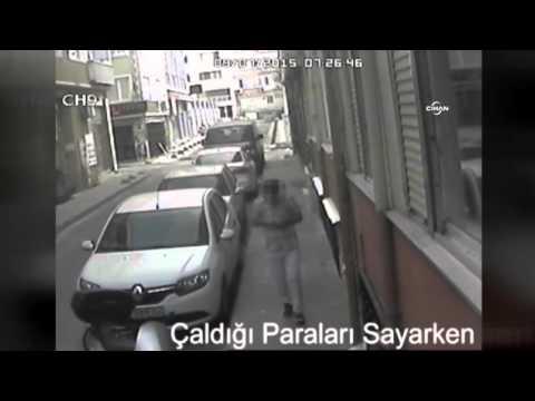Çaldığı Parayı Sayarken Kameraya Yakalandı