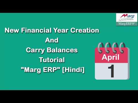 New Financial Year Creation in Marg ERP [Hindi]
