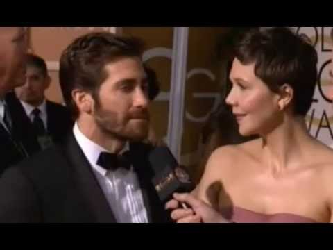 Maggie and Jake Gyllenhaal  - Golden Globes 2015 Red Carpet Interview