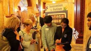 Nived and Nishali Parikh at Innovation for Autism 2013 at The New Jersey State House