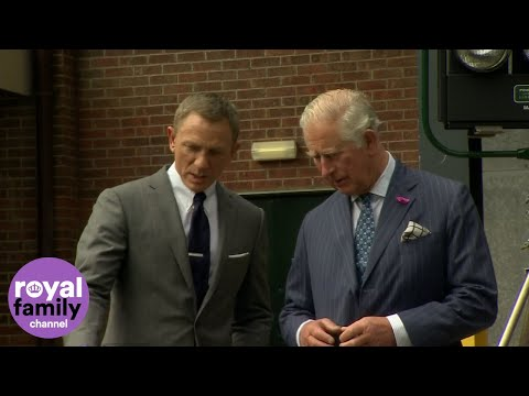 The Name's Charles...Prince Of Wales Meets Daniel Craig On James Bond Set