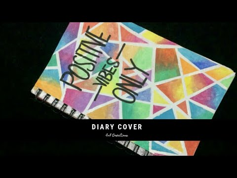 DIY | DIARY COVER DESIGN |FRONT PAGE DESIGN | WATERCOLOR NOTEBOOK COVER DECORATION  |FnF Creations