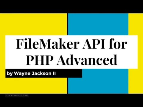 February 2016 FMPUG - FileMaker API for PHP Advanced