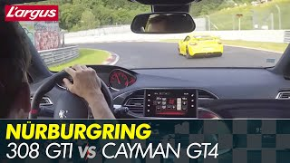 2017 Peugeot 308 GTi 270 on Nurburgring vs Cayman GT4