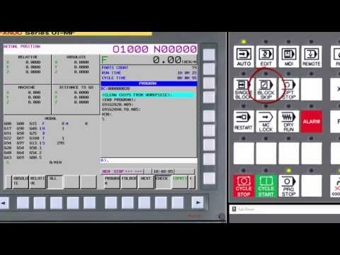 03 Machine Operator Panel Overview