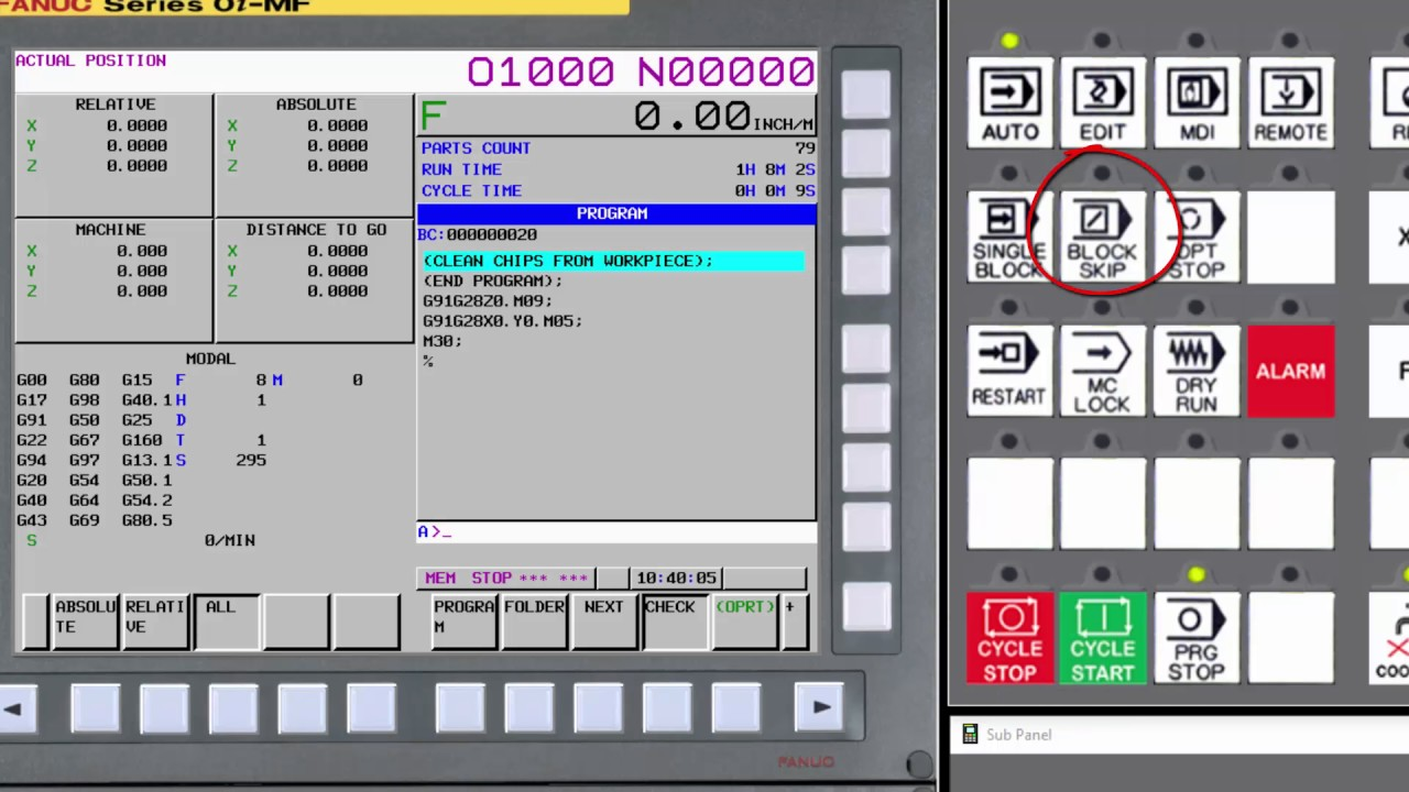 03 Machine Operator Panel Overview Youtube