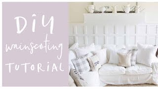 DIY Wainscoting Video Tutorial