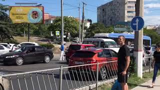 Две аварии парализовали движение на улице Пожарова в Севастополе