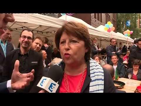 Interview de Martine Aubry à la Braderie de Lille
