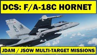 DCS: F/A-18C Hornet - Multi-Target Mission Attacks (JDAM / JSOW)