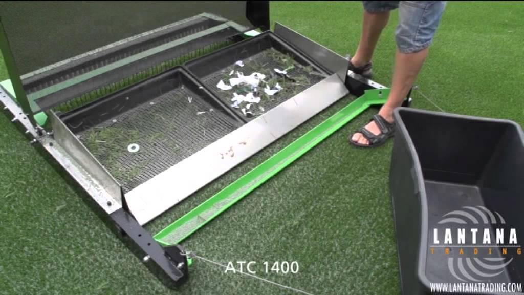 barredora para csped artificial atc 1400 youtube - Limpiar Cesped Artificial